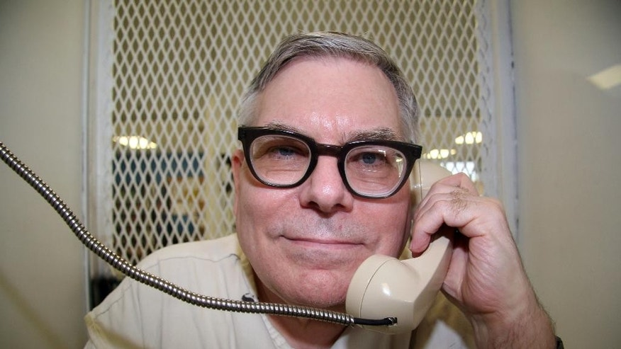 Texas death row inmate Lester Bower is photographed May 20, 2015, during an interview from a visiting cage at the Texas Department of Criminal Justice Polunsky Unit near Livingston, Texas. Bower is set to be executed June 3, 2015, for the fatal shootings of four men at an airplane hangar north of Dallas in 1983. At 67, Bower would be the oldest inmate executed in Texas since the state resumed carrying out the death penalty in 1982. (AP Photo/Michael Graczyk)