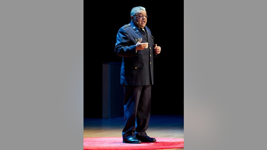 Philadelphia Police Commissioner Charles Ramsey speaks during TEDxPhiladelphia 2015: And Justice For All event, Thursday, June 11, 2015, at Temple University in Philadelphia.  (AP Photo/Matt Rourke)
