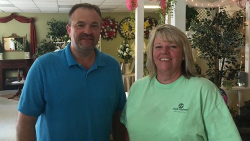 Todd Frady, left, and Debbie Dills of Frady's Florist