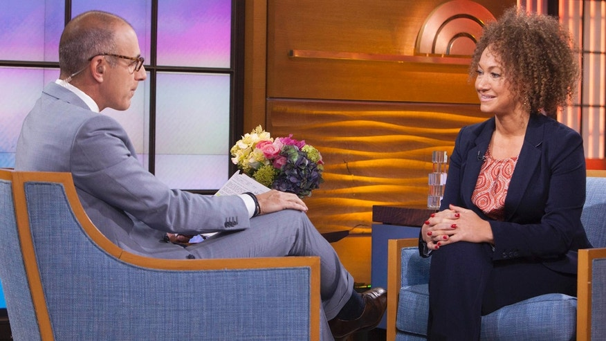 "June 16, 2015: In this image released by NBC News, former NAACP leader Rachel Dolezal appears on the ""Today"" show during an interview with co-host Matt Lauer."
