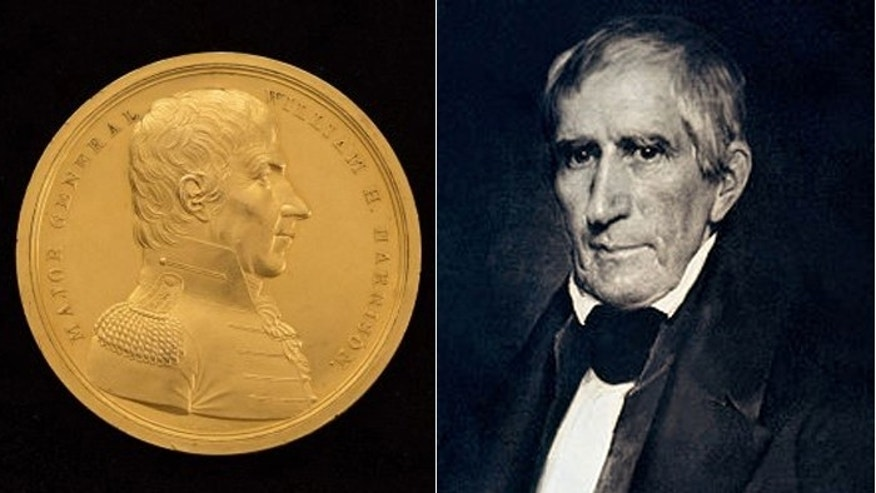 The medal honoring Harrison, pictured in this daguerreotype, is up for sale for $225,000. (Raab Collection)