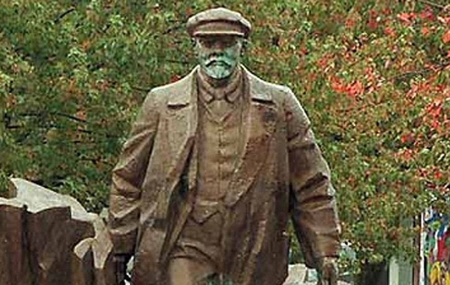 A 16-foot statue of Russian Communist leader Vladimir Lenin stands in Seattle's Fremont section.