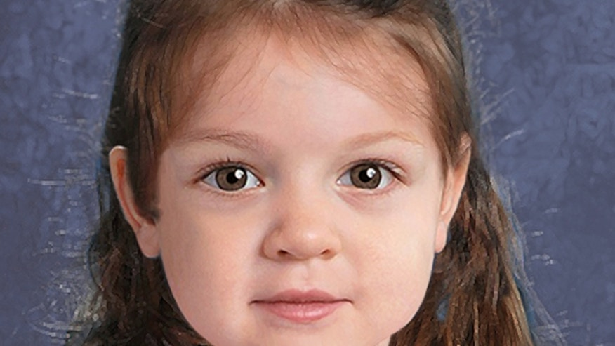 A composite of a young girl found dead on a Massachusetts island is seen in this National Center for Missing and Exploited Children image.