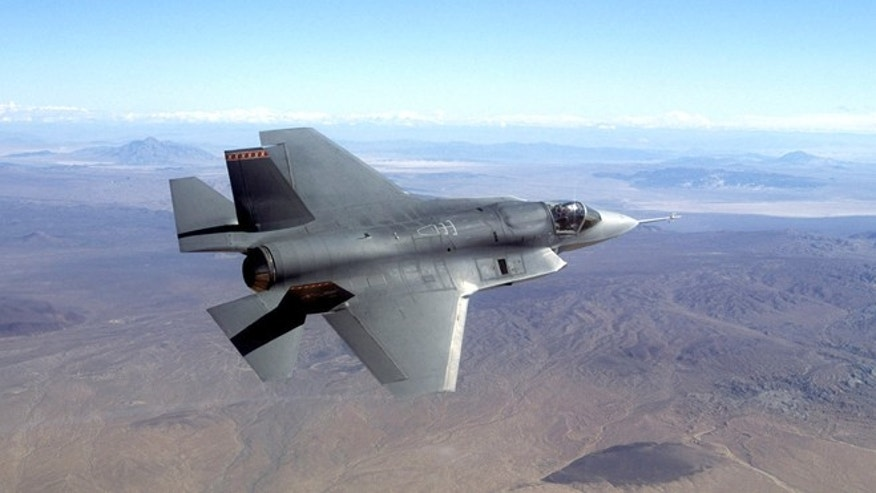 This undated photo provided by Northrop Grumman Corp., shows a pre-production model of the F-35 Joint Strike Fighter.