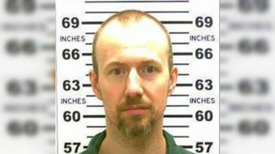 Convicted murderer David Sweat, who was shot and captured after more than three weeks on the lam from a New York State prison, is seen in this New York State Police photo.