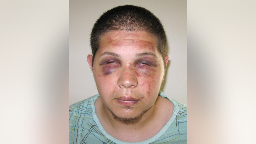 This booking photo released Wednesday, July 8, 2015, by the Middletown, Conn., Police Department shows Tony Moreno, who police said jumped with his 7-month-old son Aaden Moreno Sunday night, July 5, from the Arrigoni Bridge between Middletown and Portland, Conn. Moreno, 22, was arraigned on murder charges Wednesday, a day after the child's body was pulled from the Connecticut River downstream. (Middletown Police Department via AP)