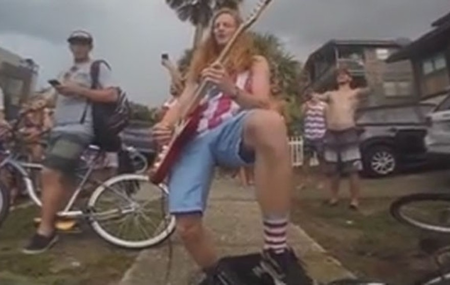 "Lane Pittman played ""The Star Spangled Banner"" and Ted Nugent's ""Stranglehold"" during a July 4 gathering. It led to applause -- and a citation from the cops."