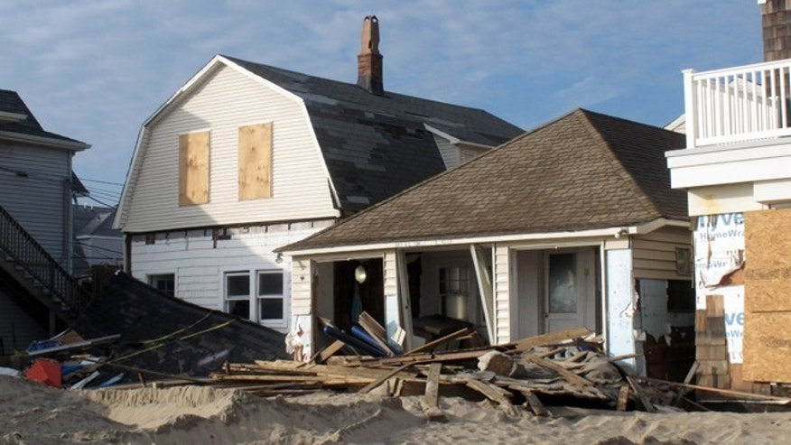 Dec. 4, 2012: Photo shows beachfront homes in Manasquan, N.J., destroyed by Superstorm Sandy.