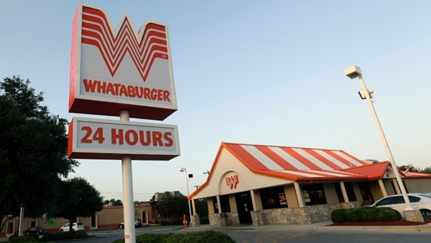 July 9, 2015: Whataburger restaurant in San Antonio, Texas.