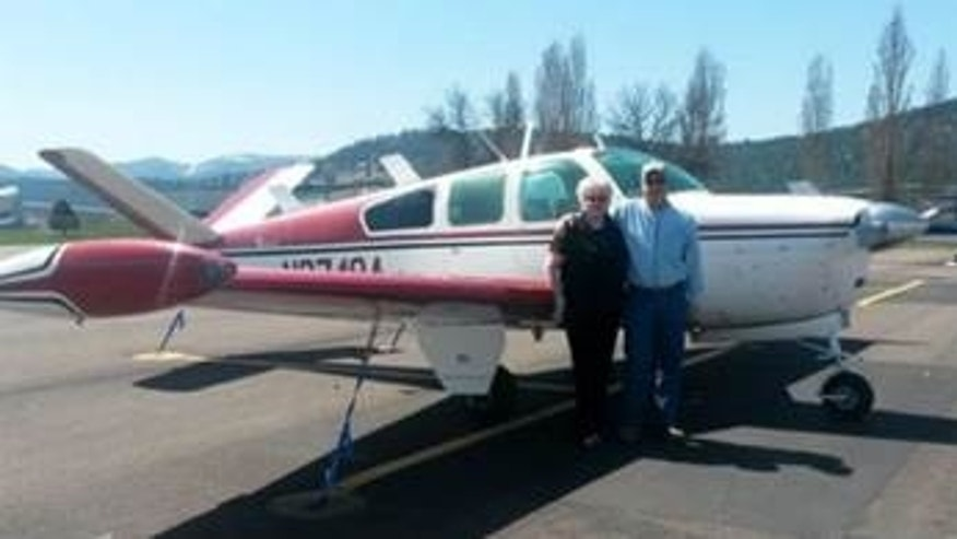 This undated photo shows a Beech 35 aircraft reported missing Saturday in Washington state. Authorities say three family members were on board. (Courtesy Washington State Department of Transportation)