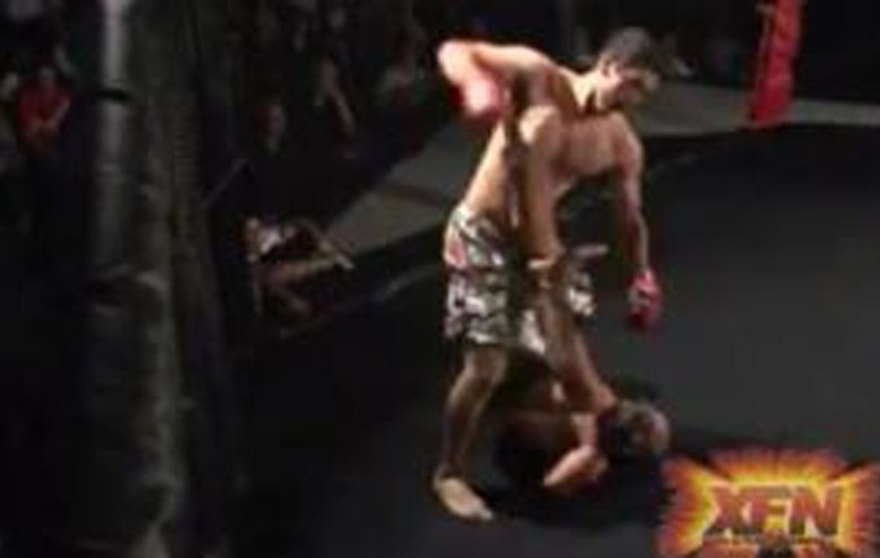 Video of a cage fight between Abdulazeez and Timmy Hall was on the Internet until recently. (Screengrab)