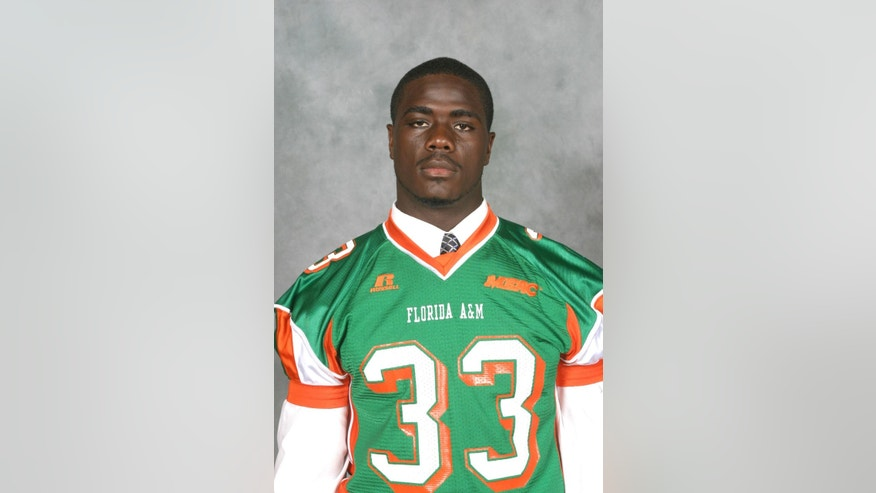 This undated photo provided by shows 24-year-old Jonathan Ferrell of Charlotte, N.C.  Ferrell was shot to death by Charlotte-Mecklenburg police officer Randall Kerrick. Kerrick was arrested and charged with voluntary manslaughter and his trial is scheduled to start on Monday, July 20, 2015 . Investigators say Kerrick shot Ferrell, who was unarmed, 10 times during an investigation of a possible home invasion. (Courtesy Vaughn Wilson/FAMU Athletics via AP)