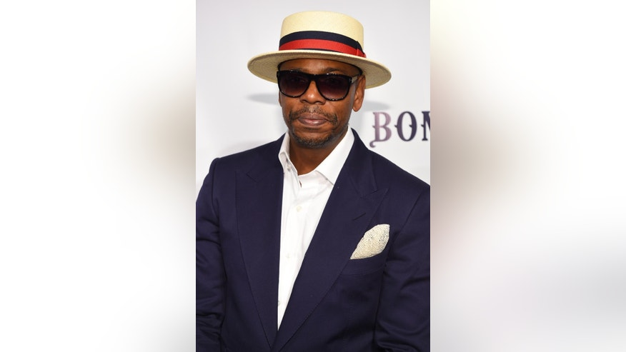 Comedian Dave Chappelle attends the RUSH Philanthropic Arts Foundation's Art for Life Benefit at Fairview Farms in Water Mill on Saturday, July 18, 2015, in New York. (Photo by Scott Roth/Invision/AP)