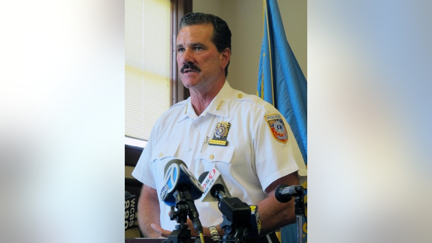 In this photo taken Monday, July 20, 2015, in Peconic, N.Y., Southold Town Police Chief Martin Flatley speaks at a news conference to discuss a fatal limousine accident two days earlier that left four women dead and four others seriously injured while leaving Long Island's wine country region. (AP Photo/Frank Eltman)