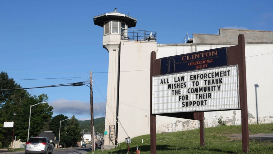 June 24, 2015: A sign at Clinton Correctional Facility thanks the community as the search for two escaped prisoners from the facility continued.