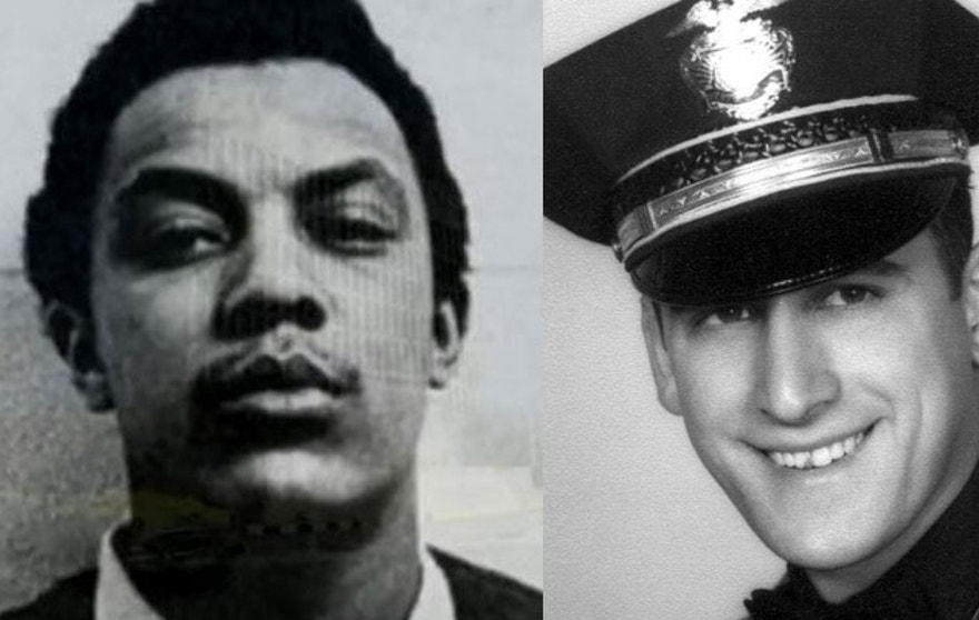 Hill, (l.), is the only surviving one of the three men accused of killing Rosenbloom, (r.).