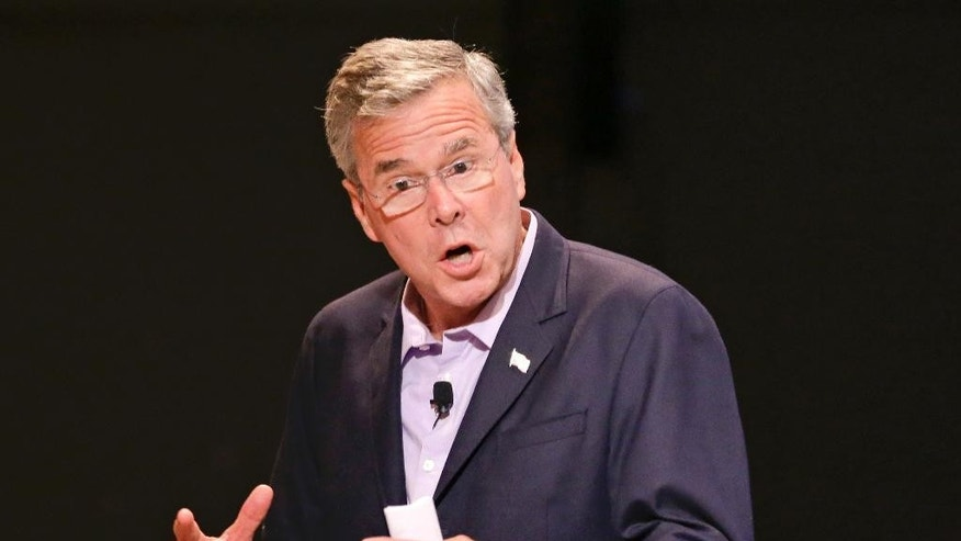 Republican presidential candidate, former Florida Gov. Jeb Bush, speaks at a Central Florida pastors meet and greet, Monday, July 27, 2015, in Orlando, Fla. (AP Photo/John Raoux)