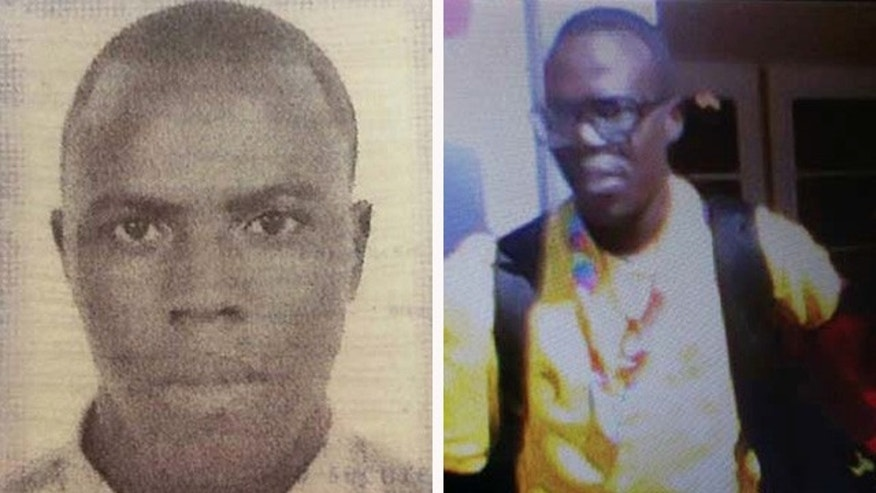 These undated photos released by the Inglewood Police Department show missing Special Olympics athlete Abidjan Ouattara, originally from the Ivory Coast. Ouattara vanished near Los Angeles on Monday. (Inglewood Police Department via AP)