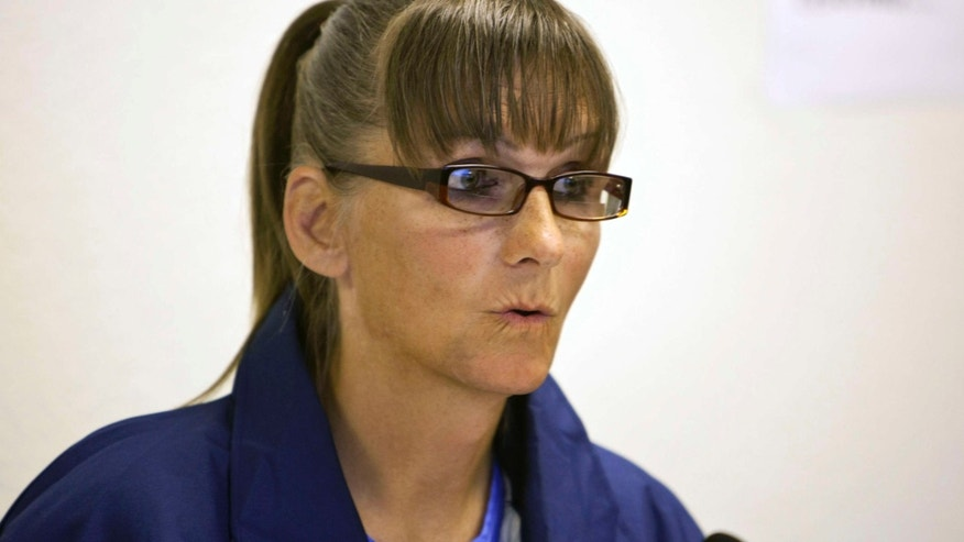 May 21, 2015: Inmate Michelle-Lael Norsworthy speaks during her parole hearing at Mule Creek State Prison in Ione, Calif.