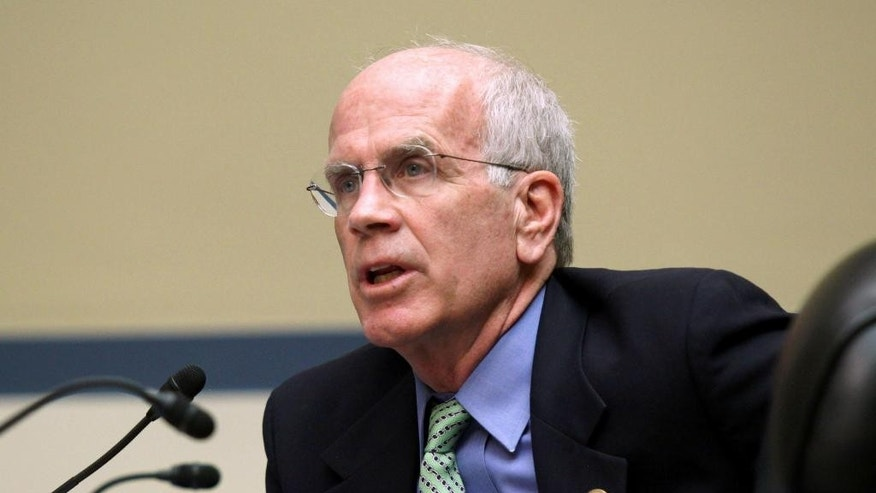 FILE - In this March 17, 2015 file photo, Rep. Pete Welch, D-Vt. speaks on Capitol Hill in Washington. The president's Cabinet, the diplomatic corps and members of the Supreme Court, six of whom are Catholic, are expected to join senators and House members in the seats on the floor of the chamber. The House recently took the unusual step of voting to limit the people who can sit in those prime seats, essentially barring former members.  (AP Photo/Lauren Victoria Burke, File)