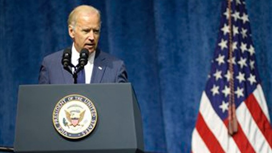 Aug. 15, 2015: Vice President Joe Biden speaks at a memorial service in Chattanooga, Tenn for four Marines and a sailor killed as a result of attacks on a military recruiting station and a Naval operations center July 16 in Chattanooga.