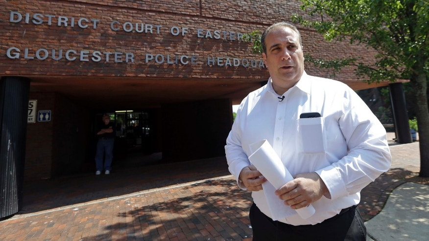July 10, 2015: Gloucester Police Chief Leonard Campanello speaks to The Associated Press in Gloucester, Mass.