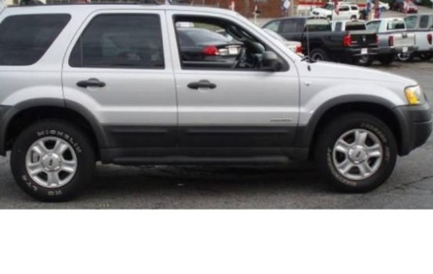 This image shows Spindler's 2002 silver Ford Escape -- with South Carolina license plate No. KFI776