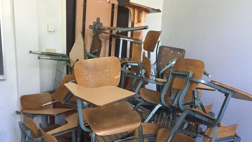 People on campus barricaded classroom doors with desks while Mississippi State University was locked down.