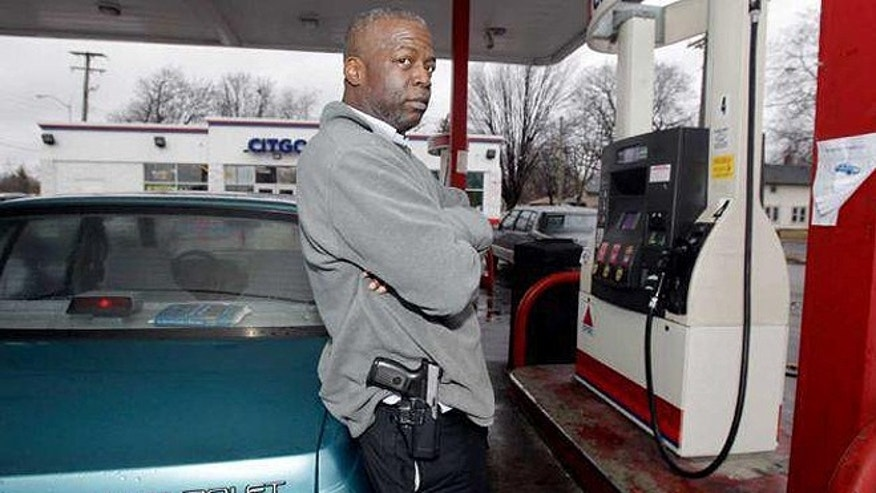 Rick Ector, of Detroit, recently told FoxNews.com that people carrying guns, whether openly or concealed, lowers crime.
