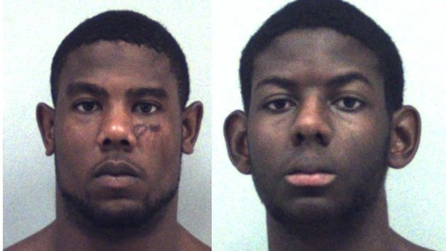 Christoper Ervin, left, and Cameron Ervin are accused of attacking their parents with a knife.
