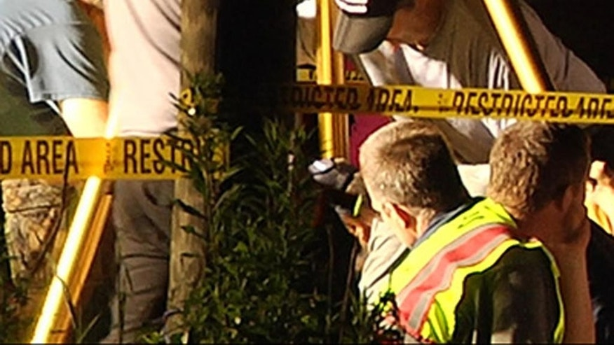 In this image taken from WJTV video, rescuers using a rope try to rescue a boy and his dog trapped in a well, about 70 miles (113 kilometers) south of Jackson in Lincoln County, MS., Monday, Sept. 7, 2015. Clifford Galey, civil defense director for Lincoln County, told The Daily Leader newspaper that the 4-year-old boy and his dog had been trapped in a well nearly 25 feet (7.6 meters) deep. They were rescued a few hours later to the cheers of emergency workers. The hole was only about a foot and a half wide. (WJTV via AP) JACKSON, MISSISSIPPI OUT, MANDATORY CREDIT
