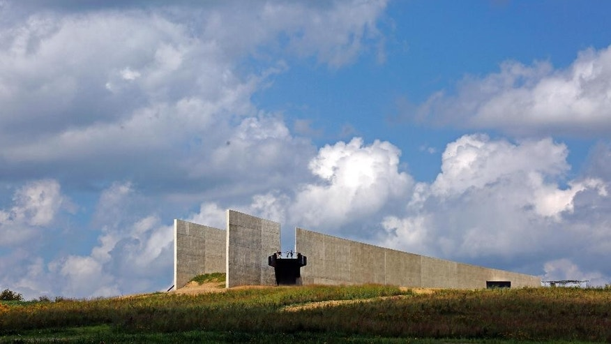 The Flight 93 National Memorial's new Visitors center complex sits on a hill overlooking the crash site in Shanksville, Pa, on Wednesday, Sept. 9, 2015. The visitors center will be formally dedicated and open to the public on Sept. 10, 2015. (AP Photo/Gene J. Puskar)