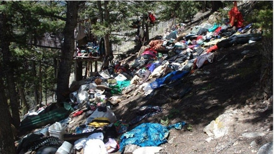 Trash pile in Colorado's Uncompahgre National Forest. (US Attorney's Office)