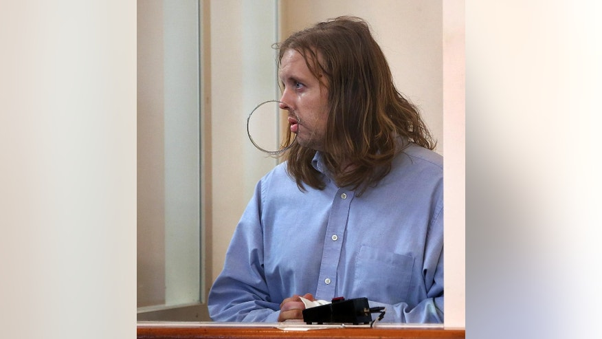 Michael Patrick McCarthy is arraigned on murder charges in the death of Bella Bond in Dorchester District Court, on Monday, Sept. 21, 2015, in Boston. Bella Bond, 2, was known as Baby Doe until she was identified almost three months after her remains washed up inside a trash bag on a Boston Harbor beach. Her mother, Rachelle Dee Bond, not shown, was arraigned on charges of acting after the fact in helping to dispose of the body of her daughter. The judge ordered Bond held on $1 million cash bail and McCarthy held without bail.  (Pat Greenhouse/The Boston Globe via AP, Pool)