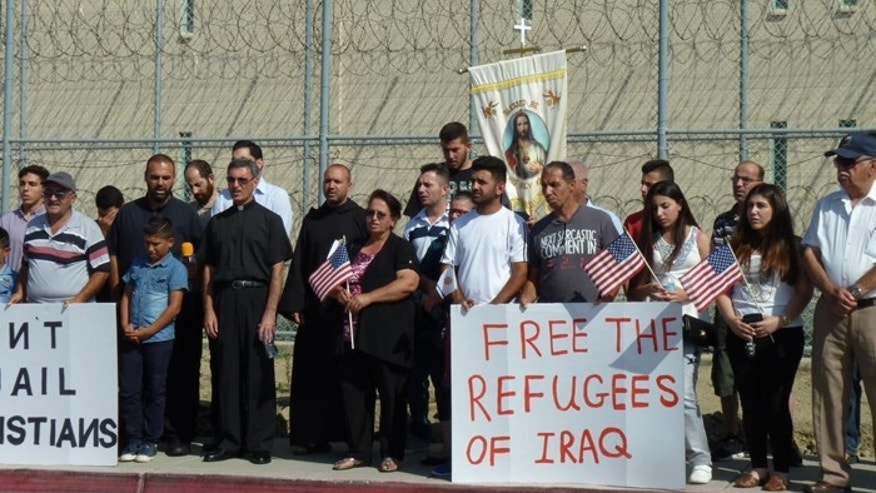 The Chaldeans being held at Otay have numerous supporters in El Cajon and throughout San Diego County. (Courtesy: East County Magazine/Miriam Raftery)