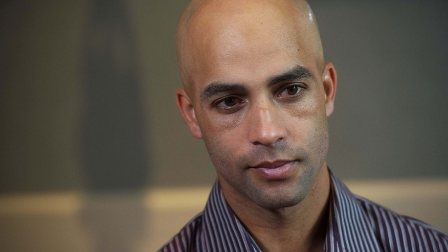 Sept. 12, 2015: Former tennis star James Blake discusses his mistaken arrest by the New York City Police Department during an interview in New York.
