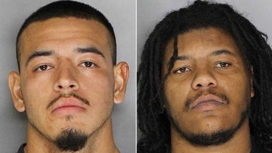 Juan Gomez, left, and Jamaral Lee were arrested after a Sacramento cop was assaulted outside of his cruiser.