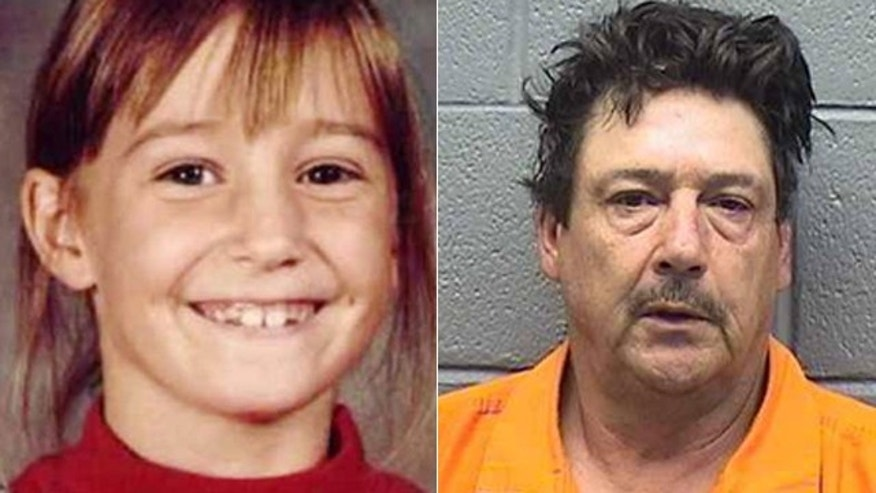Oct. 13, 2015: At right, Anthony Palma, of Midwest City, Okla., who was arrested and accused of kidnapping Kirsten Hatfield, left, in 1997. Hatfield has never been found. (National Center for Missing and Exploited Children/Midwest City Police Department)