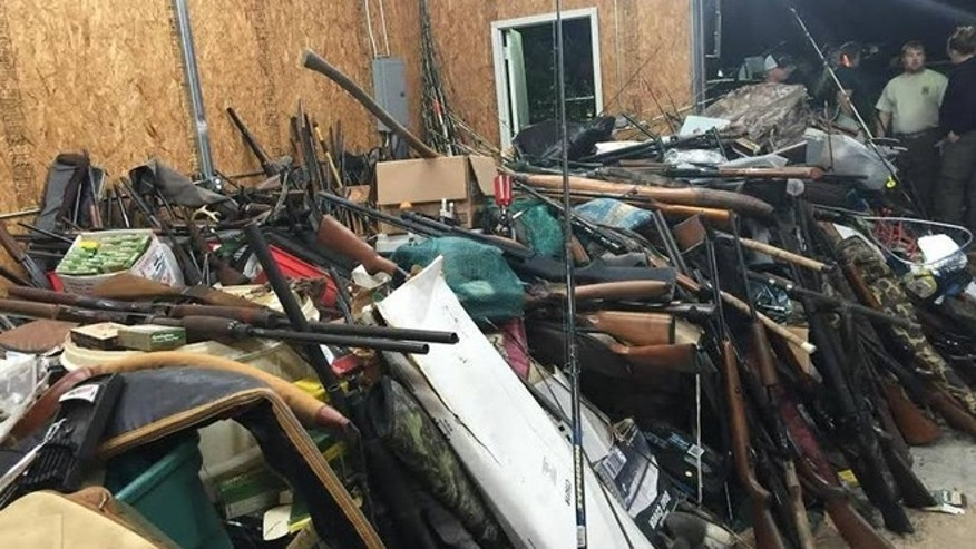 Guns found in Brent Nicholson's home in Pageland, S.C.