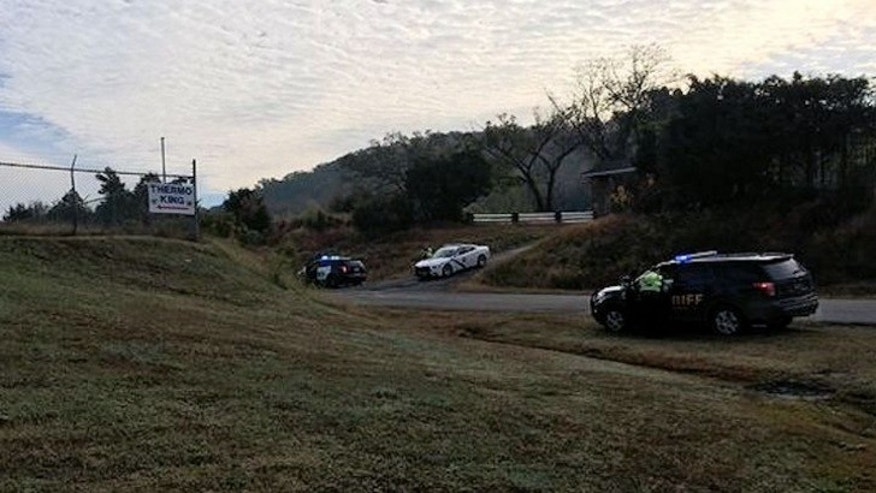 Crews at the scene of a deadly single-engine plane crash in western Arkansas. (Fox 16)