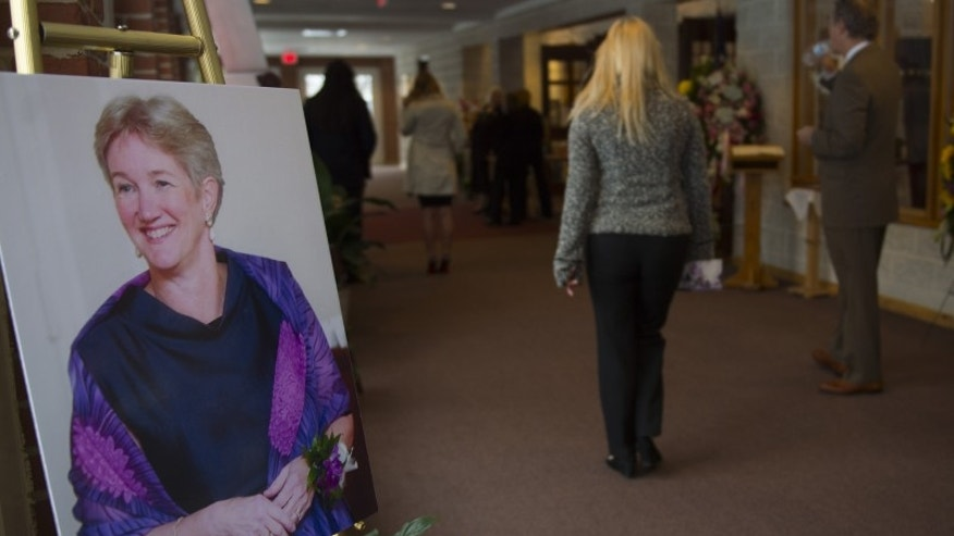 The funeral for Ruthanne Lodato in February 2014.