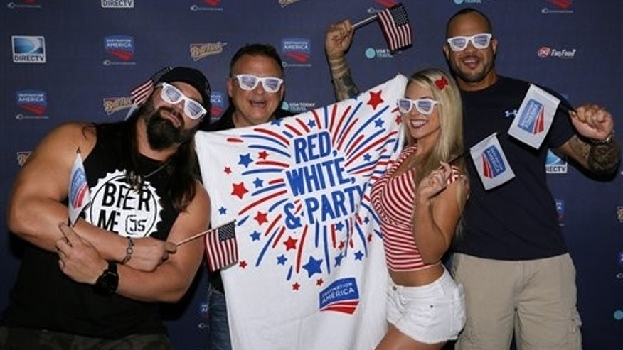Impact Wrestling's James Storm, Jeremy Borash, Taryn Terrell, and Chris Melendez.