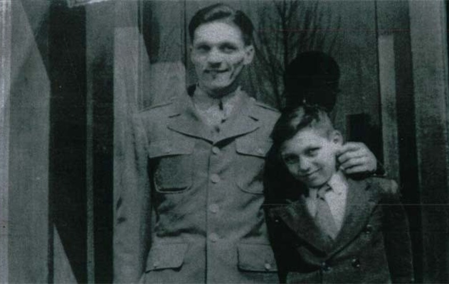 Conner's story was revealed when Chilton, shown here as a boy with his uncle, Army Pfc. Gordon Wesley Roberts, sought to find out what happened to his relative. (Courtesy: Richard Chilton)