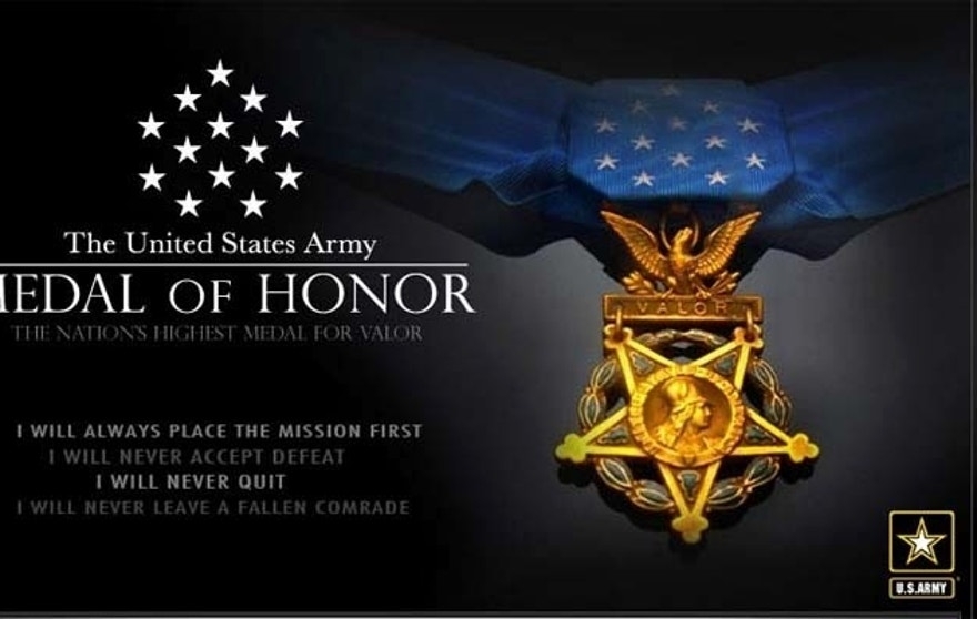 The Medal of Honor is the military's highest honor, and is awarded by the Commander-in-Chief.