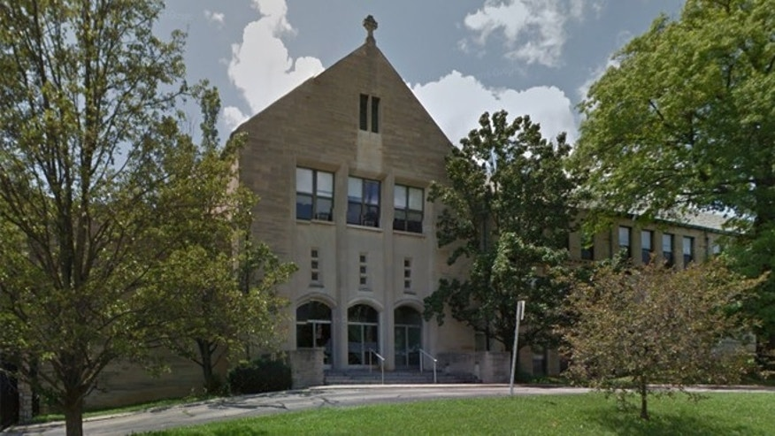 A first-grader was suspended from Our Lady of Lourdes for pretending to shoot a bow and arrow.