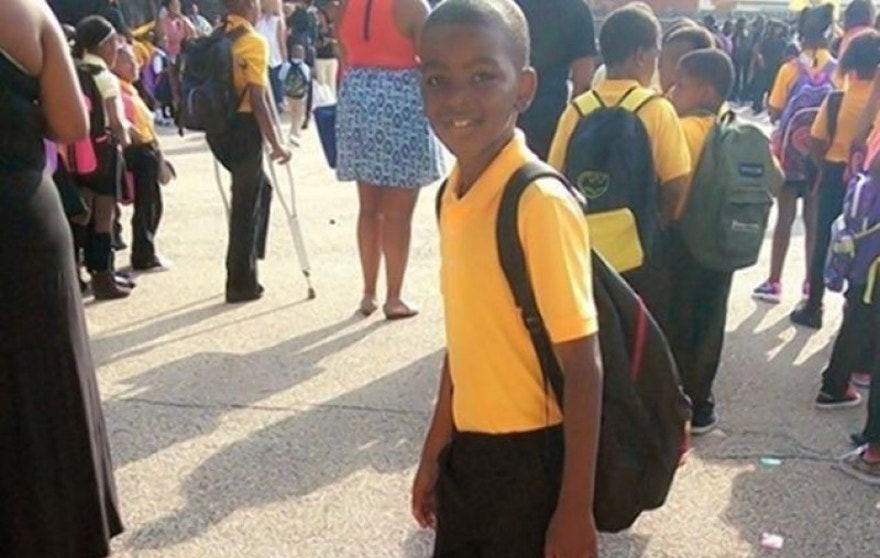 Tyshawn Lee, 9, is pictured in a photo on a GoFundMe page set up to raise reward money to help solve his murder.