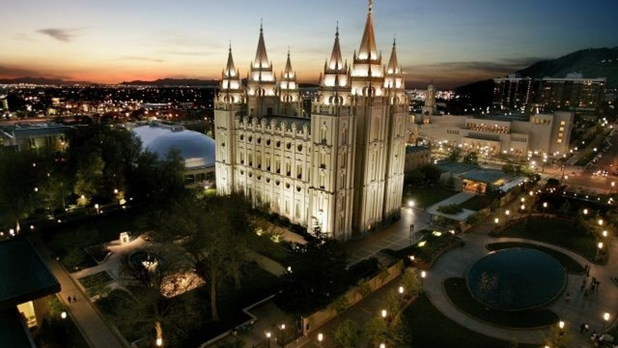 The Mormon Temple in Salt Lake City.