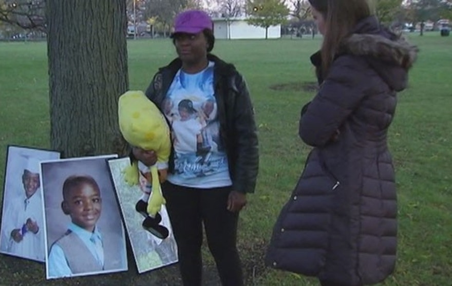 Karla Lee's son Tyshawn, 9, was lured from a park to an alley and killed on Chicago's south side. (Fox 32)