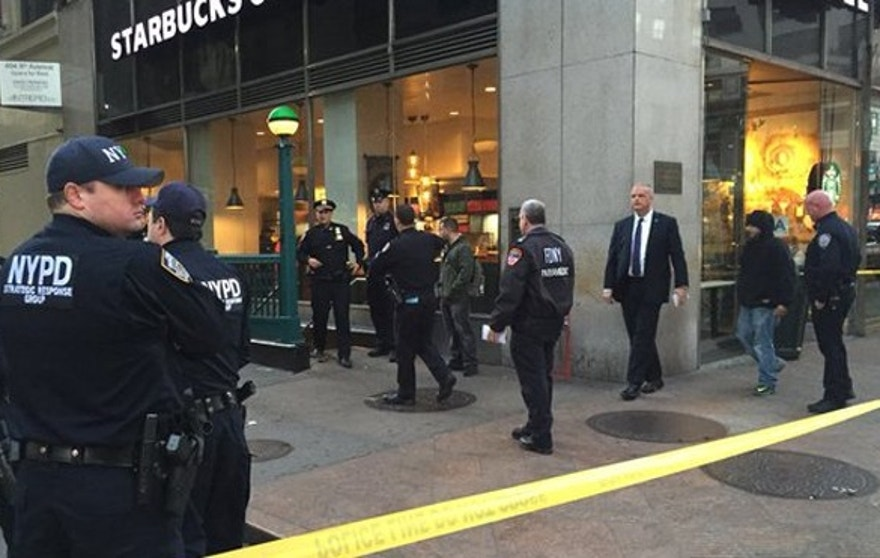 Three people were shot near Penn Station on Monday morning.