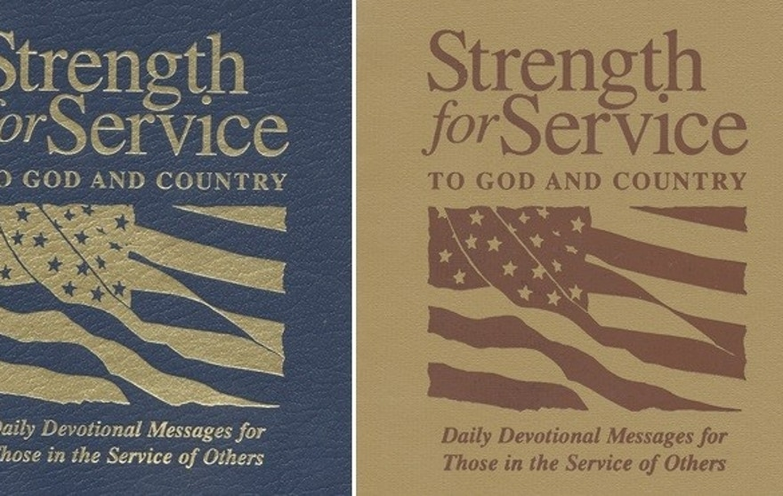 "Various covers for ""Strength for Service."""